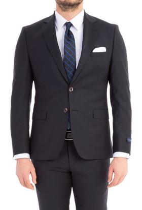 Kiğılı Slim Fit Kareli Takım Elbise
