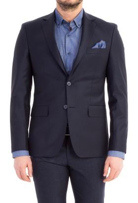 Kiğılı Slim Fit Düz Blazer Ceket