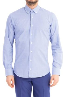 Kiğılı Uzun Kol Tasarım Slim Fit Gömlek