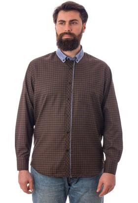 Tudors Klasık Fit Gömlek Kahverengi Vuna