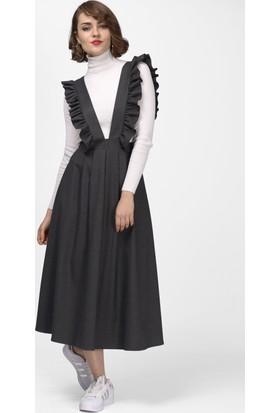 İroni Salopet Antrasit Elbise