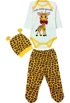 By Leyal For Kids Bebek Zürafa Detaylı 3'Lü Takım 2587