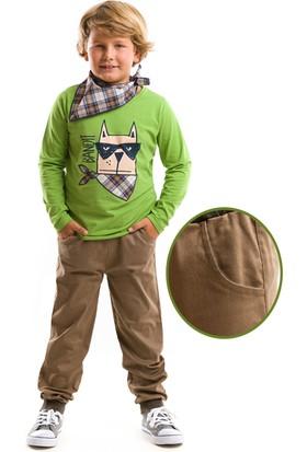 Denokids Mushi Bandit Dog Kanvas Pantolon Takım