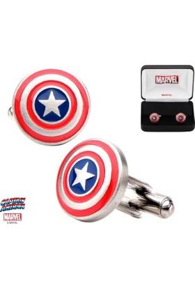 Body Vibe Marvel Captain America Shield Kol Düğmesi