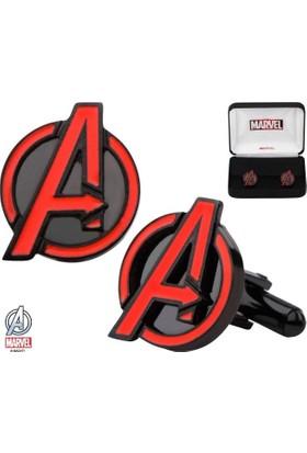 """Body Vibe Marvel Avengers """"A"""" Logo Kol Düğmesi"""
