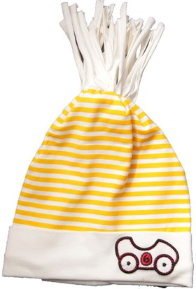 Babygiz Araba Desenli Çizgili Şapka