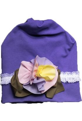 Babygiz Çiçek Aksesuarlı Dantelli Şapka