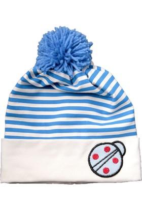 Babygiz Ponponlu Çizgili Şapka