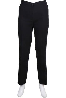 Ruşetül Bayan Büyük Beden Yüksek Bel Kumaş Pantolon Siyah