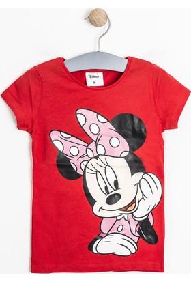 Soobe Lisanslı Disney Minnie Mouse Kısa Kol T-Shirt Beyaz (9 Ay- 7 Yaş)