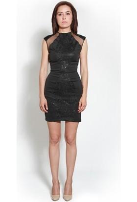 Kep&Balo Kadın Siyah Kısa Abiye Elbise