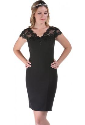 Kep&Balo Kadın Kısa Siyah Abiye Elbise