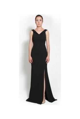 Kep&Balo Kadın Uzun Siyah Abiye Elbise