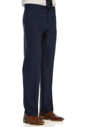 Hateko Klasik Kesim Altınyıldız Saks Mavi Yün Kumaş Pantolon