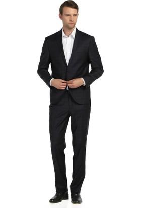Comienzo 2 Düğme Tek Yırtmaç Ekoseli Takım Elbise 10521