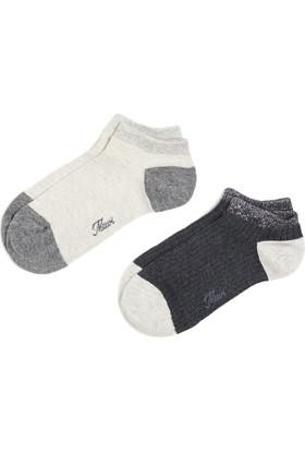 Mavi Kadın İkili Paket Gri Çorap