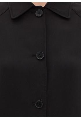 Mavi Kadın Siyah Uzun Ceket