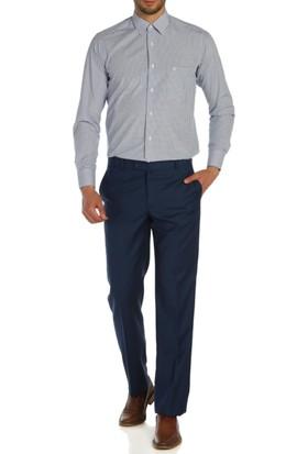 Hateko Klasik Kesim Mavi Kumaş Pantolon