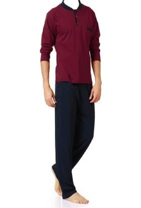 Nur Compakt Penye Uzun Kollu Mevsimlik Erkek Pijama Takımı