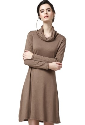 Demoda Kadın Vizon Viskon Elbise Eb2 2