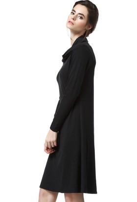 Demoda Kadın Füme Viskon Elbise Eb2 3