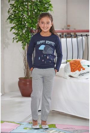 Zeyzey Baskılı Kız Çocuk Pijama Takımı