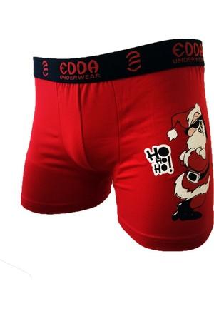 Man Day Erkek Kırmızı Noel Yılbaşı Boxer 018