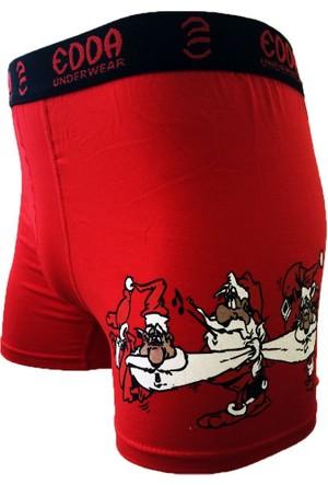 Man Day Erkek Kırmızı Noel Yılbaşı Boxer 014