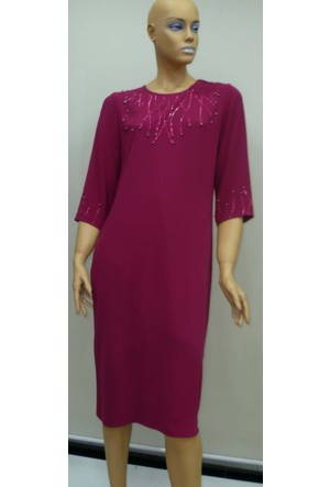 Soral Kadın Buyuk Beden Abiye Elbise Taş İşlemeli