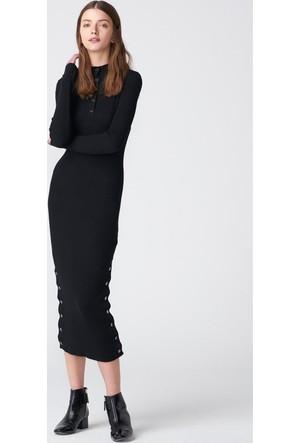 Dilvin 2050 Düğmeli Triko Elbise