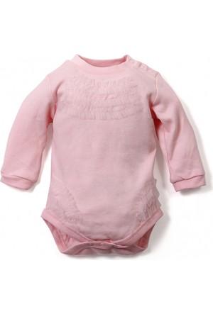 Soobe Baby Fashion Kız Bebek Uzun Kol Badi Pembe (0-2 Yaş)