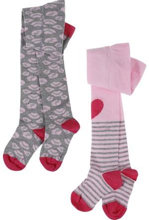 Soobe İkili Külotlu Kız Çocuk Çorap Pembe (17-22 Numara)