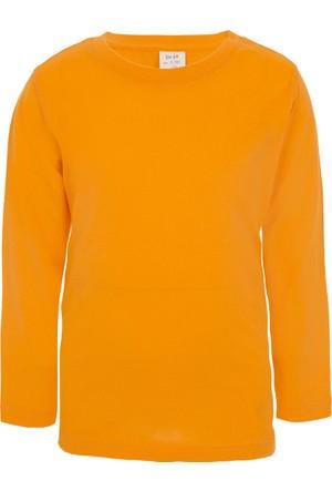 Soobe Pop Boys Bisiklet Yaka Uzun Kol T-Shirt Oranj (3-7 Yaş)