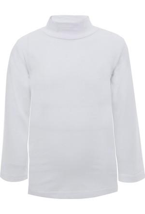 Soobe Pop Boys Yarım Balıkçı Uzun Kol T-Shirt Beyaz (3-7 Yaş)