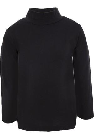 Soobe Pop Boys Yarım Balıkçı Uzun Kol T-Shirt Siyah (3-7 Yaş)