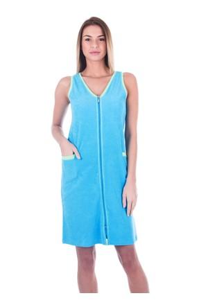 Ayyıldız 59492 Turkuaz Fermuarlı Havlu Elbise Turkuaz