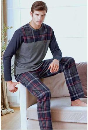 Polo 17254 Erkek V Yaka Pijama Takımı