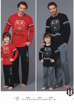 Roly Poly 8451 Erkek Çocuk Taraftar Pijama Takımı Beşiktaş 8-16 Yaş