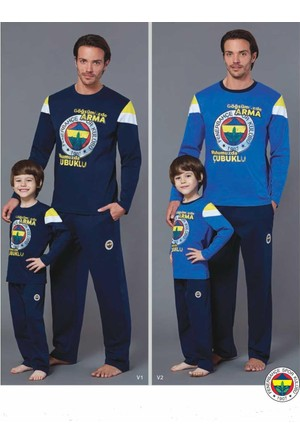 Roly Poly 8464 Erkek Çocuk Pijama Takımı Fenerbahçe 8-16 Yaş