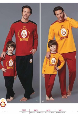 Roly Poly 8472 Erkek Çocuk Taraftar Pijama Takımı Galatasaray 8-16 Yaş