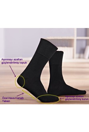 Paktaş 3lü Diyabetik Modal Koku Önleyici Erkek Çorap