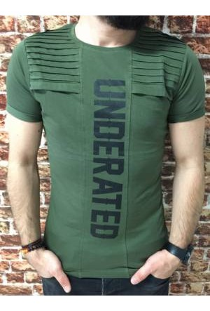 Oksit Snzy Underated Slim Fit Tshirt Haki Yeşil