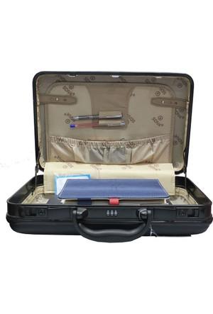 sidiva Laptop Bölmeli Abs Kırılmaz James Bond Model Evrak Lapto Çantası 13-15 İnçh