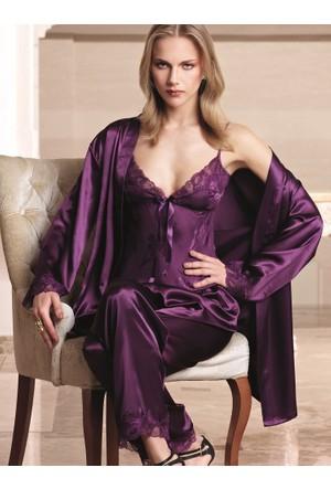 Nurteks 5942 Saten Pijama Takım