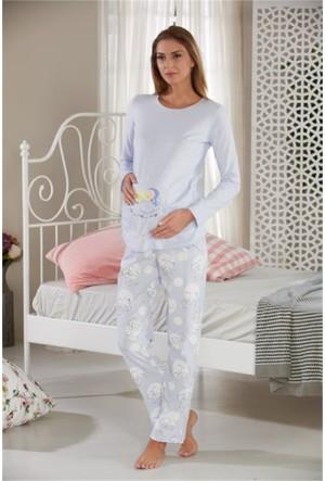 Sevim Baskılı Hamile Pijama Takımı