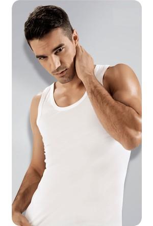 Elif Çamaşır Namaldi 3'Lü Paket Klasik Ribana Erkek Atlet Beyaz