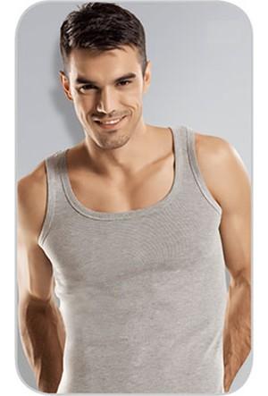 Elif Çamaşır Namaldi 3'Lü Paket Klasik Ribana Erkek Atlet Gri