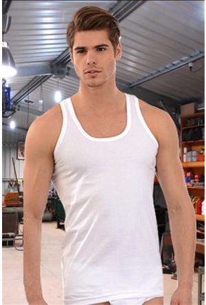 Elif Çamaşır Sedef Klasik Erkek Atlet Beyaz