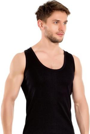 Elif Çamaşır Seher 3'Lü Paket Klasik Erkek Atlet Siyah