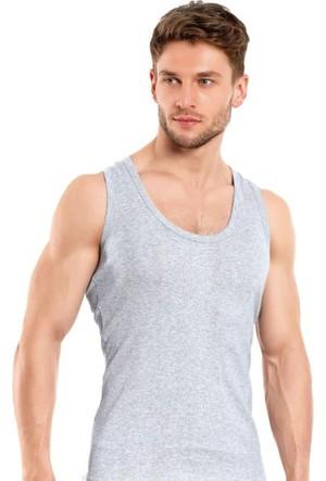 Elif Çamaşır Seher Klasik Erkek Atlet Gri